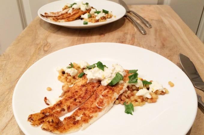 recept tong met fregola en burrata