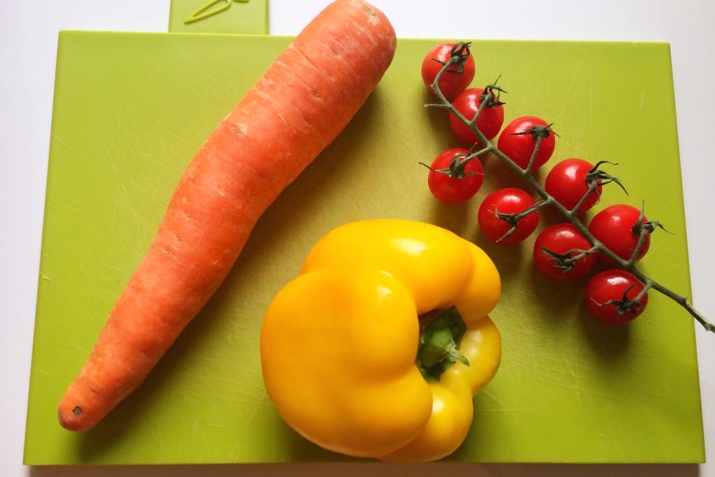 detox wortel paprika cherrytomaat