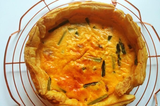 recept quiche met groene asperges en chorizo