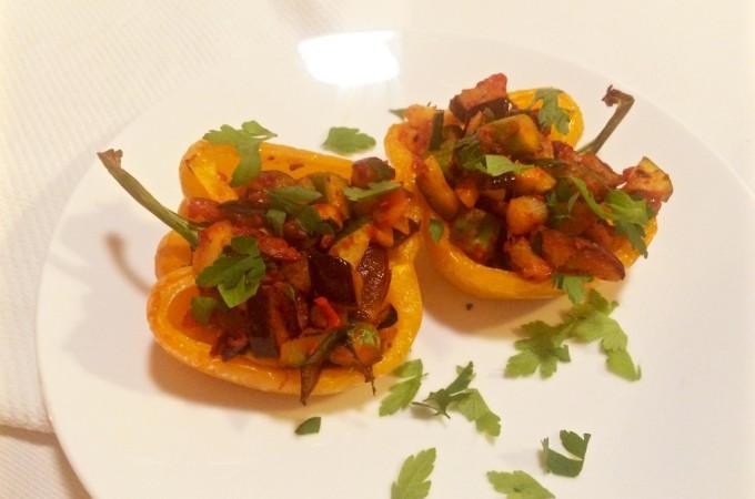 recept Paprika gevuld met ratatouille