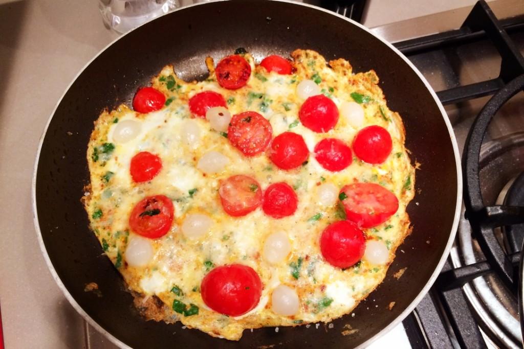 omelet tomaat en zilverui