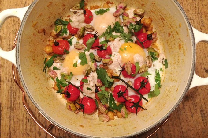 recept vegetarisch kikkererwten en ei