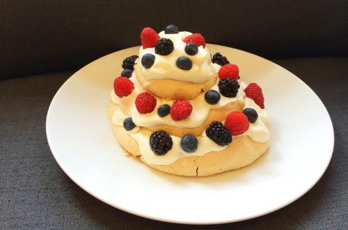 recept meringue met gemengd fruit
