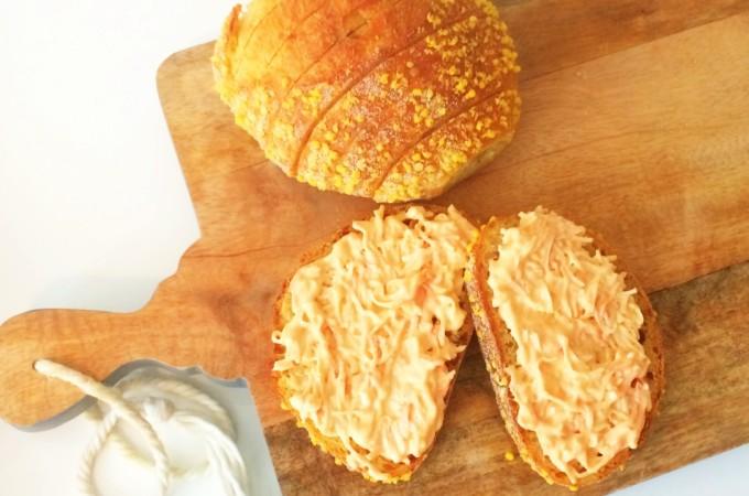 recept maisbrood met krabsalade