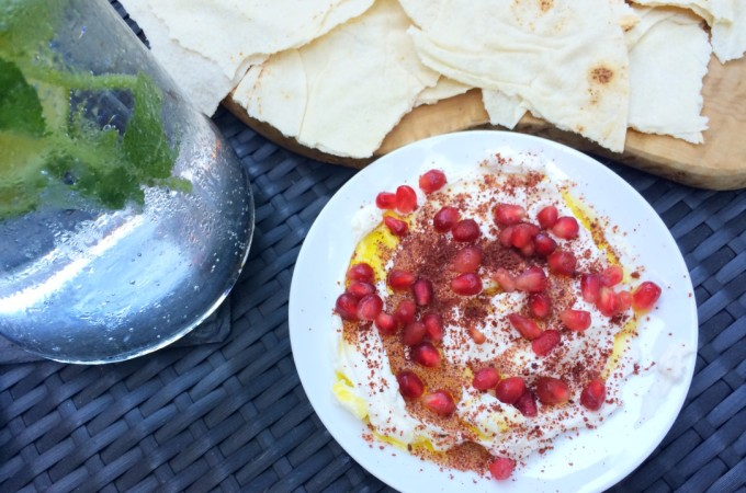 recept Labne met sumak en granaatappel