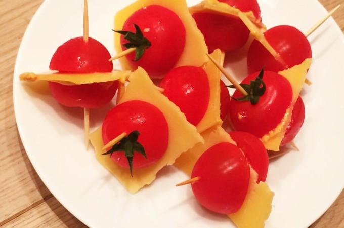 recept gezonde tomaten snack