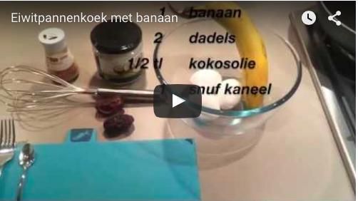 recept eiwitpannenkoek met banaan en dadels